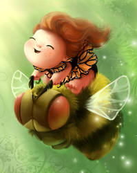 Bumble Fairy by BetterthanBunnies