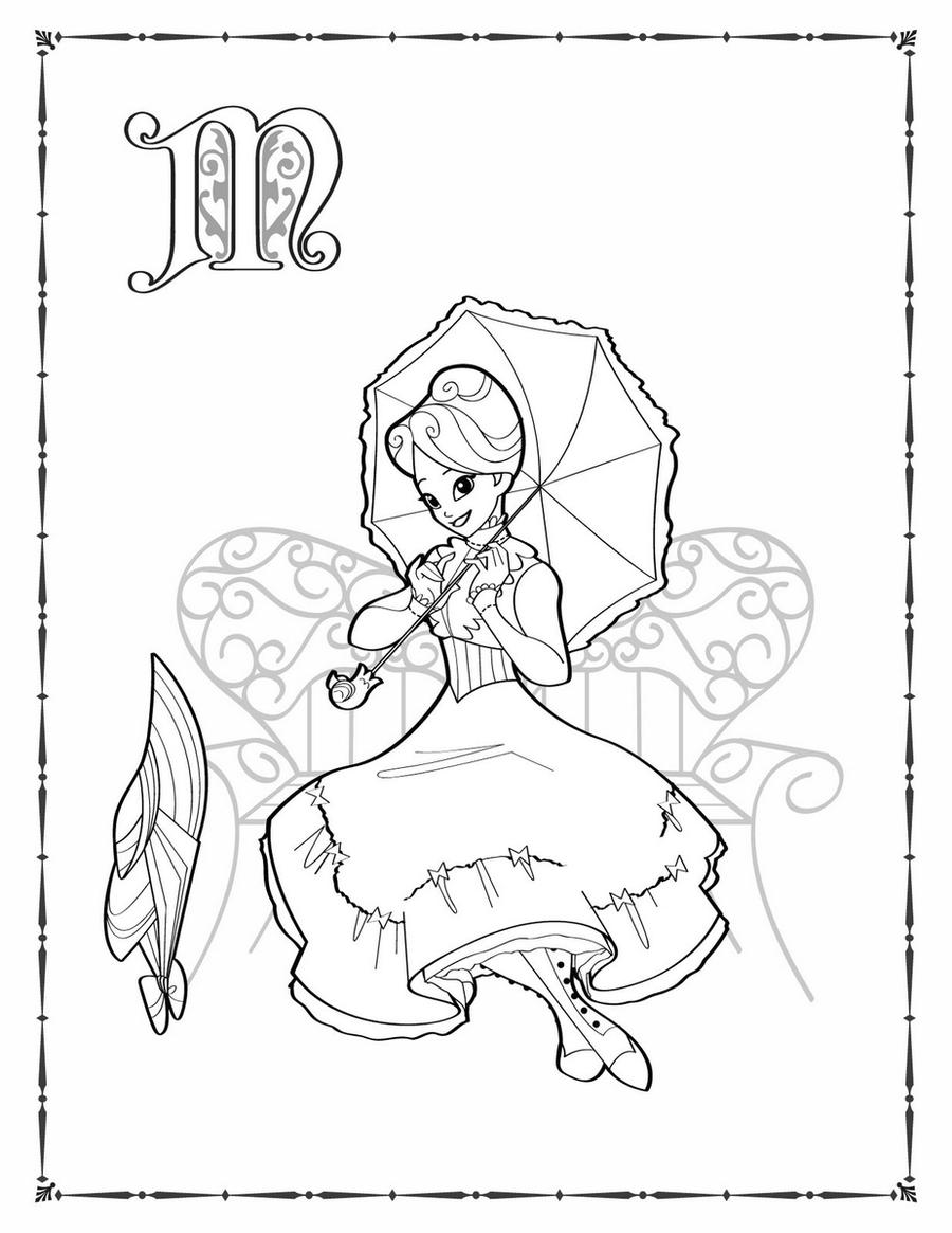 mary poppins coloring pages book - photo#29