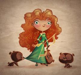 Merida and the Three Bears by BetterthanBunnies