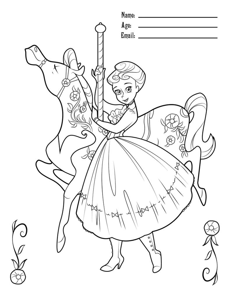MaryPoppinsCarouselColoring by BetterthanBunnies