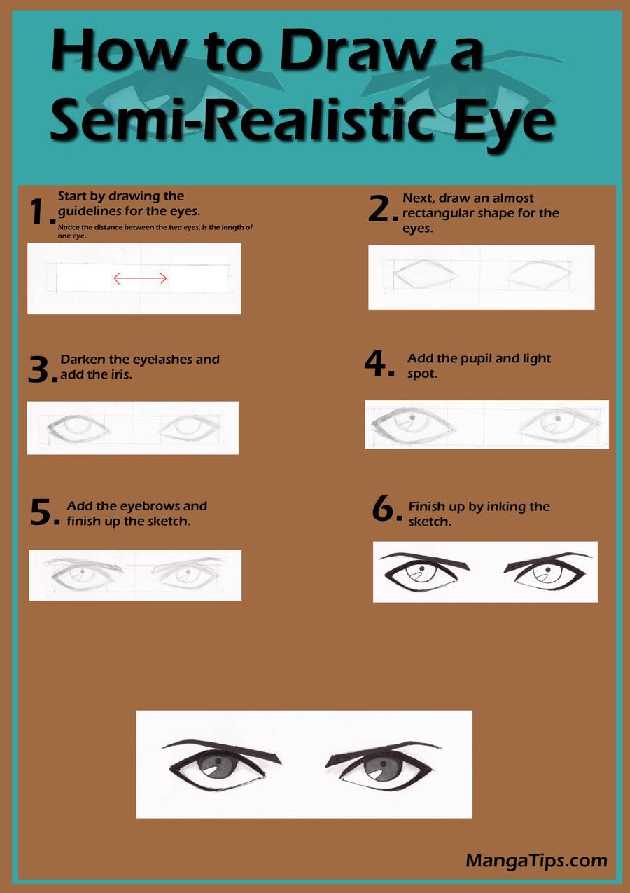 Semi-Realistic Manga Eye Tutorial by MangaTips-Com