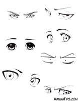 Eye Study/Reference by MangaTips-Com