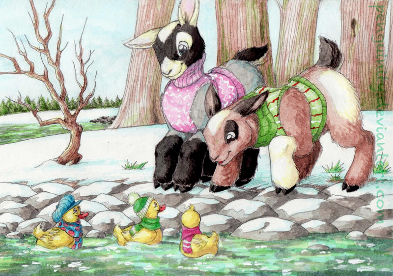 At The Pond by Penguinity