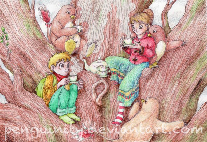 Tree Tea Party by Penguinity