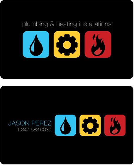 Pluming Business card by Fiz-e