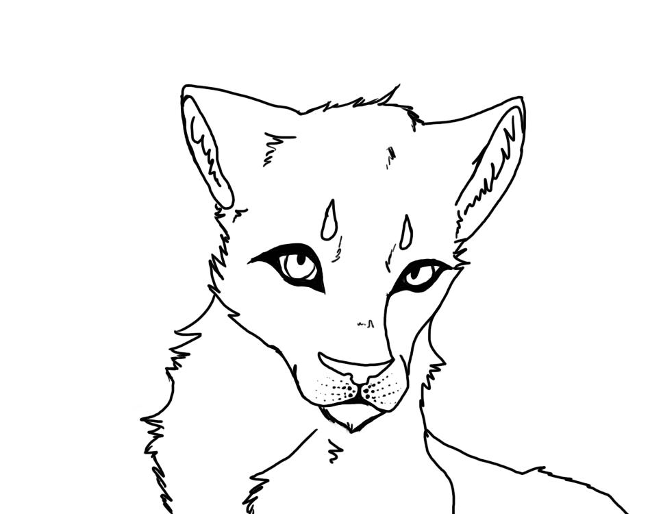Line Art Of Lion : Lion line art by emberhades on deviantart