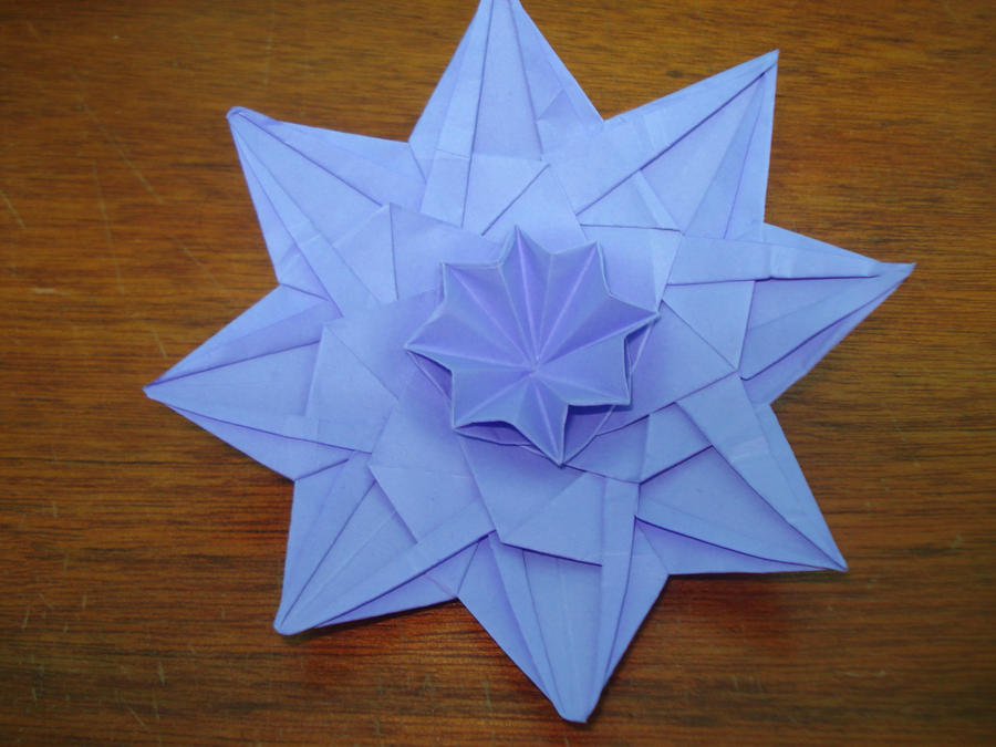Origami flower pattern by kiytzia on deviantart origami flower pattern by kiytzia mightylinksfo Image collections