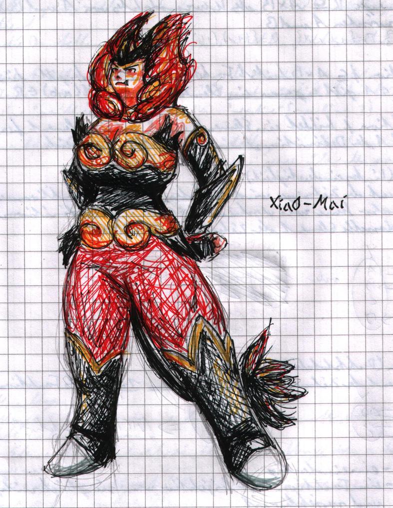 Emboar Gijinka doodle by cat-the-mouse on DeviantArt
