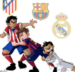 LA LIGA ON FIRE by Sandra-delaIglesia