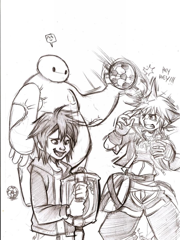 drawing hiro and baymax meet