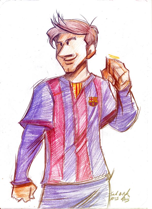 lionel messi sketch by Sandra-delaIglesia