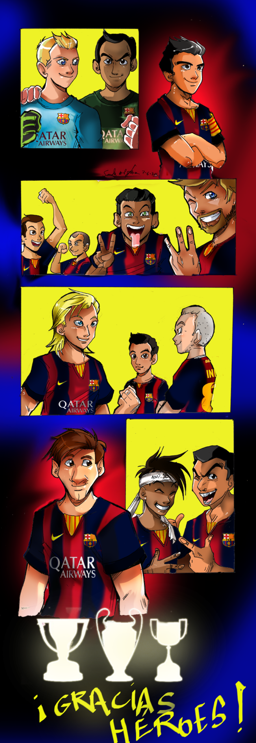 TREBLE SUPER HEROES by Sandra-delaIglesia