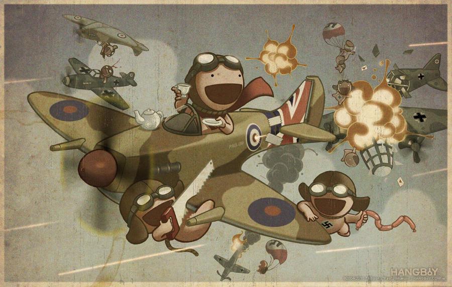 HANGBoY WW-TOO ROYAL AIR FORCE by HangboyArt