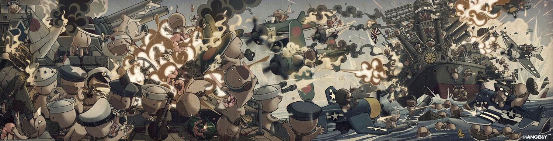 HANGBoY WW-TOO Battle of Leyte by HangboyArt