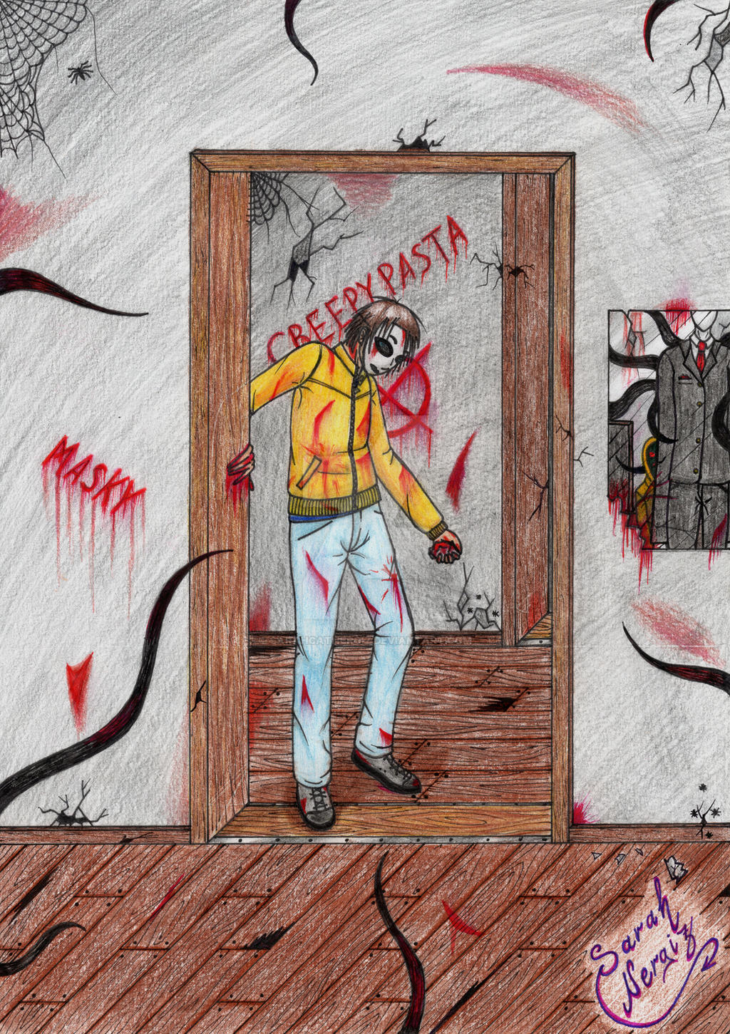 Masky Creepypasta (Marble Hornets) by SarahCatNergiz on ... | 1024 x 1451 jpeg 821kB