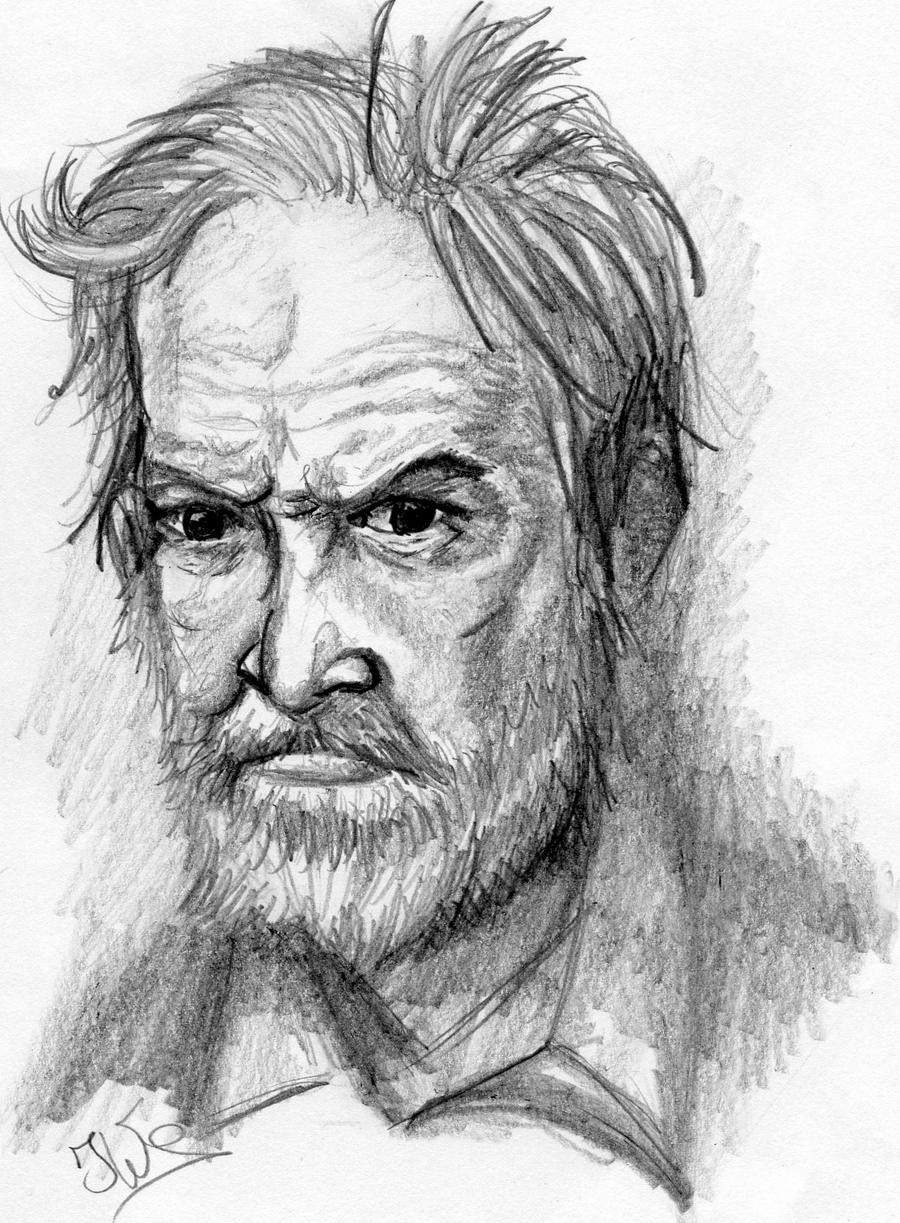 Angry Old Man Drawing Old Bearded Man by Kop...