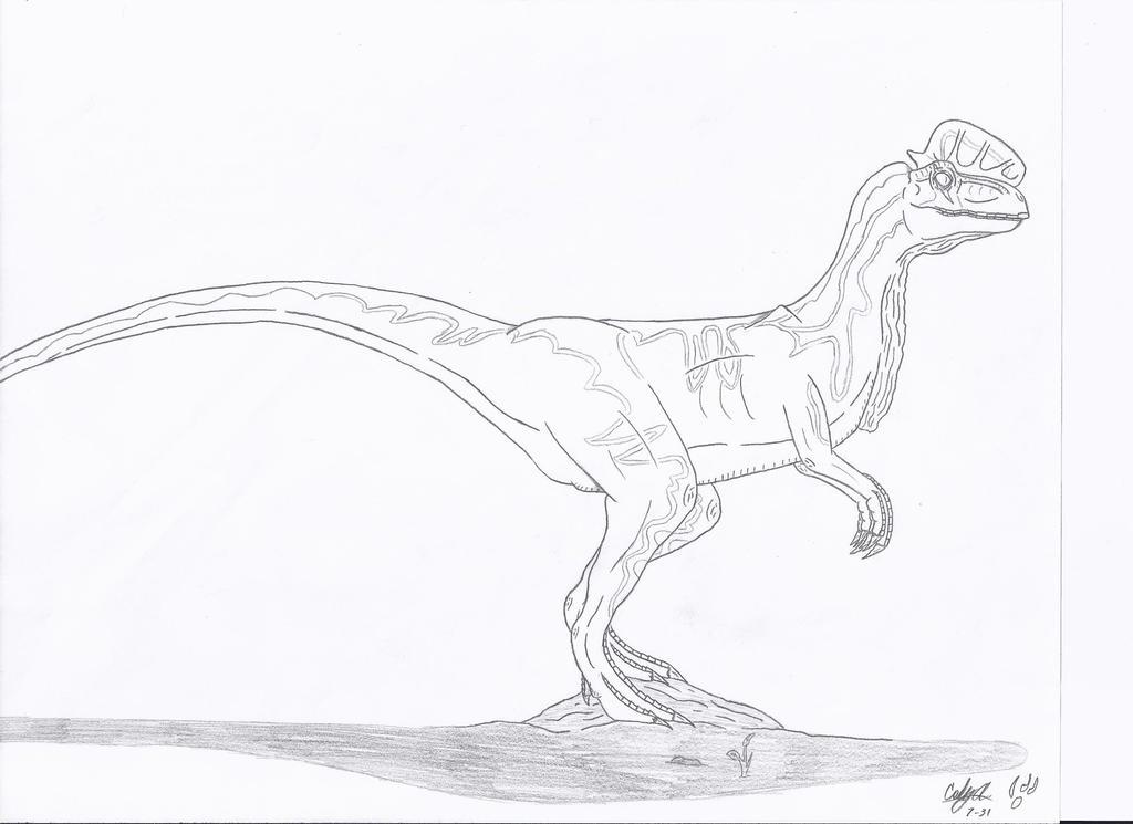 Dilophosaurus Coloring Page 28 Images Jurassic Park