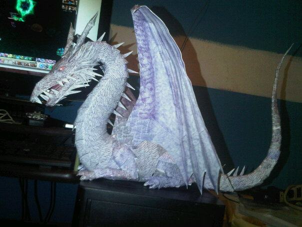 papercraft dragon by jjosed15
