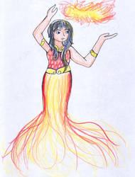 Fire Person by zarahnox