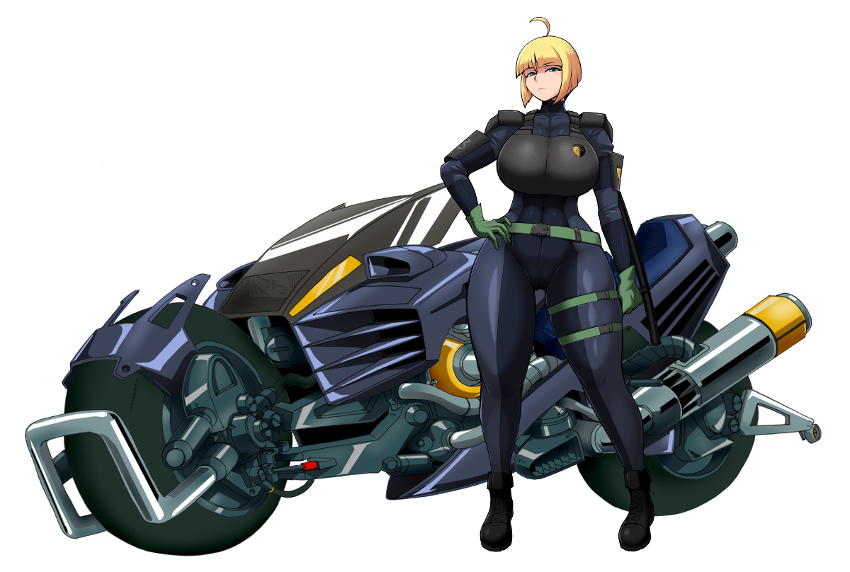Characters: Human - Page 4 Police_bike_with_officer_by_reikothegwen-dci7oc0