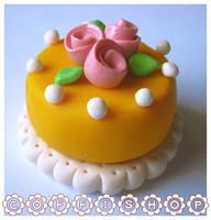 Rose cake by coffishop