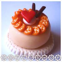 Heart orange cake by coffishop