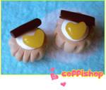 Choco heart mini pastry