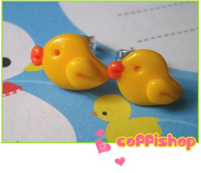Cute ducks by coffishop