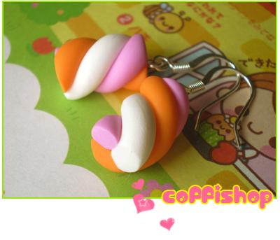 Pink orange white marshmallows by coffishop