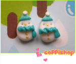 Frosty snowmen stud earrings