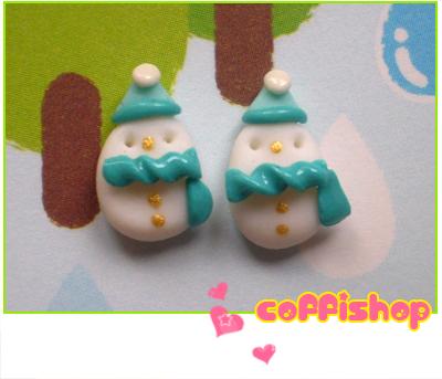 Frosty snowmen stud earrings by coffishop