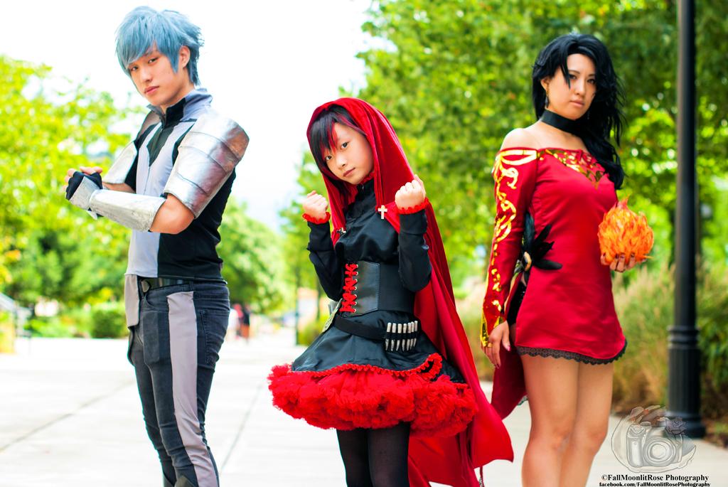 Mercury Black, Ruby Rose, and Cinder Fall by Ookami-Yami