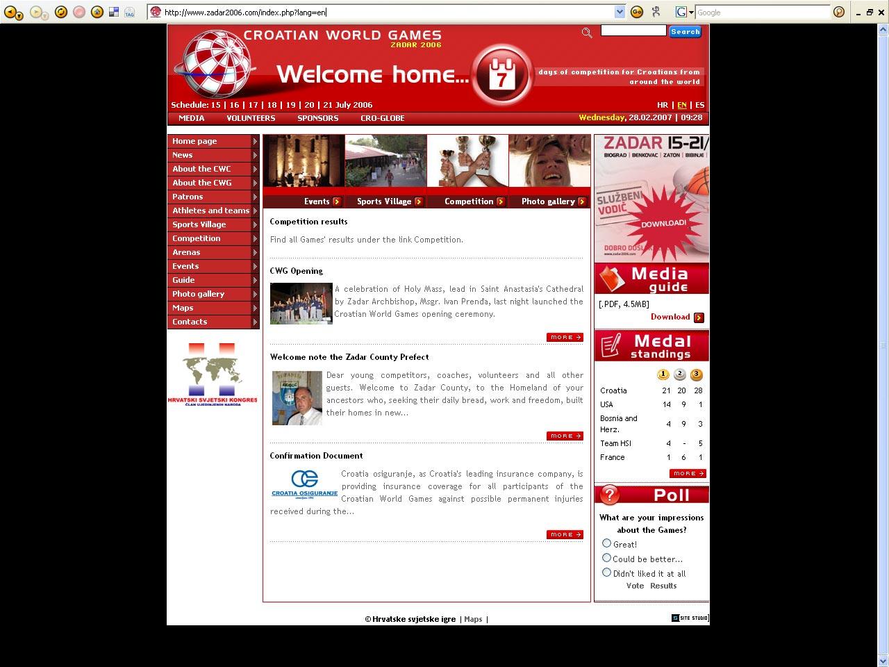 Croatian World Games website
