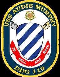 USS Audie Murphy DDG119 crest by totallynotabronyFIM