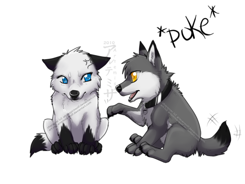 Cute Anime Wolves In Love