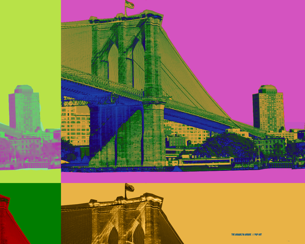 Brooklyn bridge pop art by eculewatt on deviantart for Art and craft store in brooklyn ny