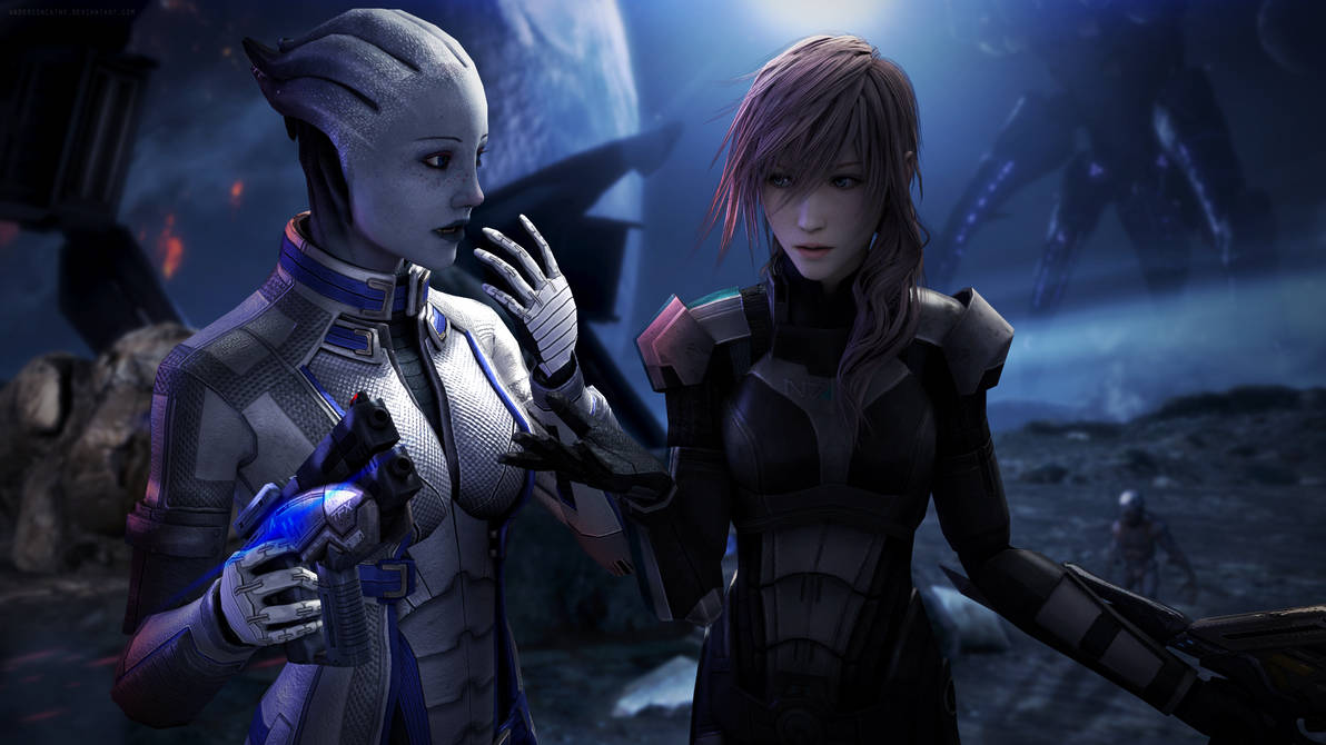 Same Voices? - Lightning and Liara