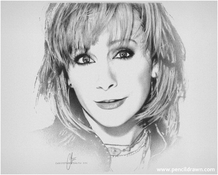 Drawing of Reba Mcentire by pencildrawn69