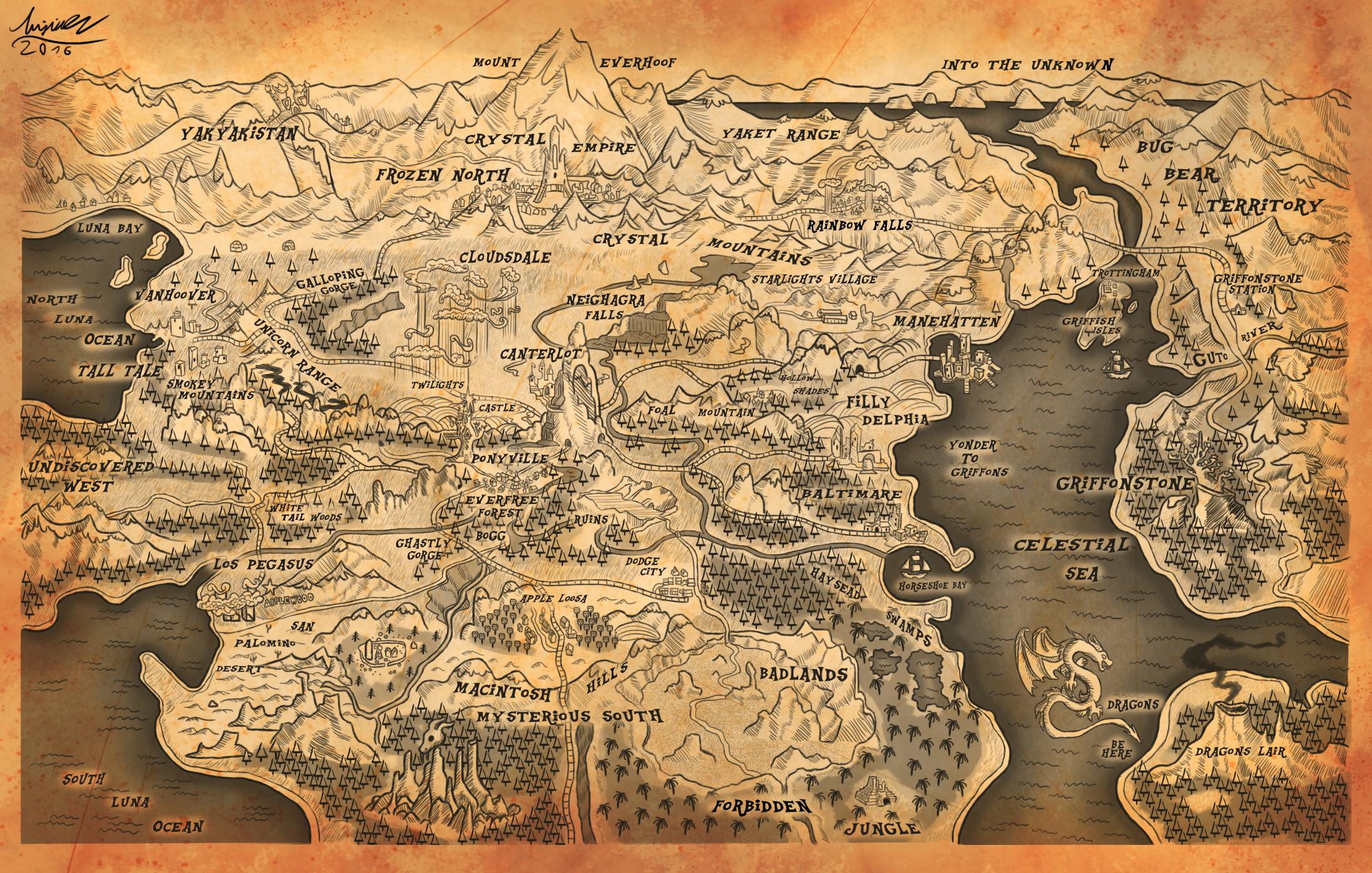 map of equestria by misiekpl map of equestria by misiekpl