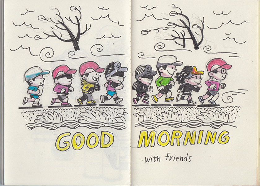 Good Morning With Friends By Min6939 On Deviantart