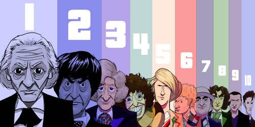 The Ten Doctors by Jorell-Rivera
