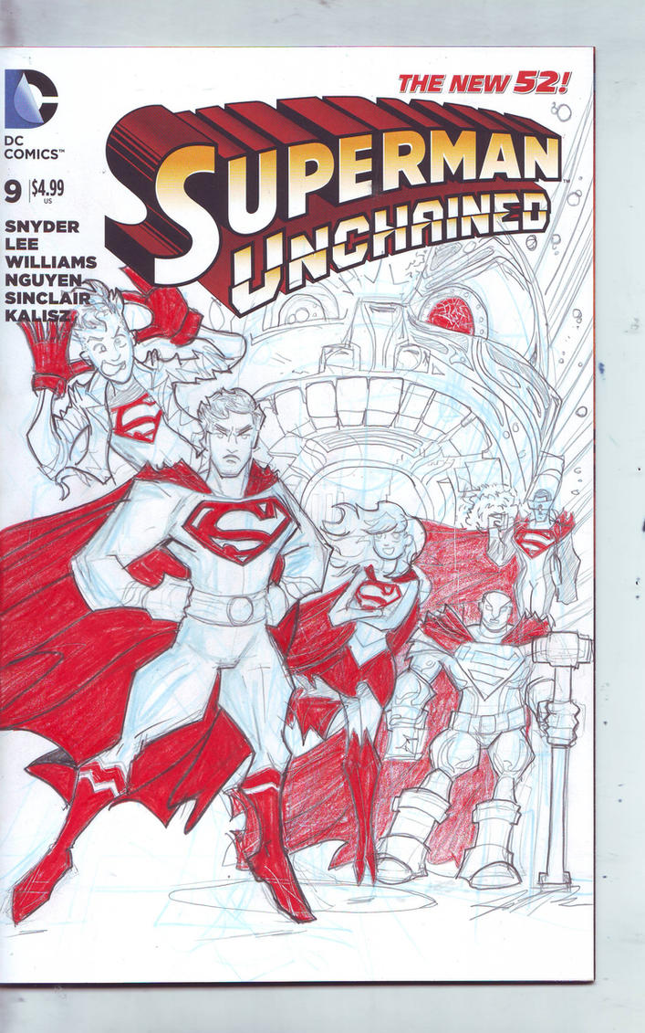 Superman Unchained Sketch Cover by Jorell-Rivera