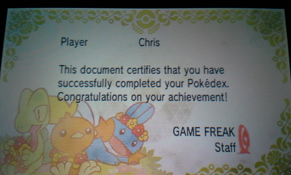 I Completed the Hoenn Dex for AS by senordunut
