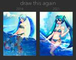 miku and the sea redraw meme