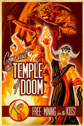Temple of Doom Travel Poster