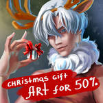 Cristmas gift Commission sale by Grimlai