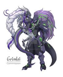Kushinada and Susanoo (commission)