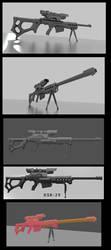 Sniper rifle concept KSR-29 WIP by DennisH2010