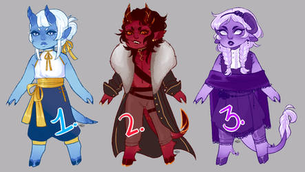 ADOPTS - Tieflings ALL SOLD by PaIIis