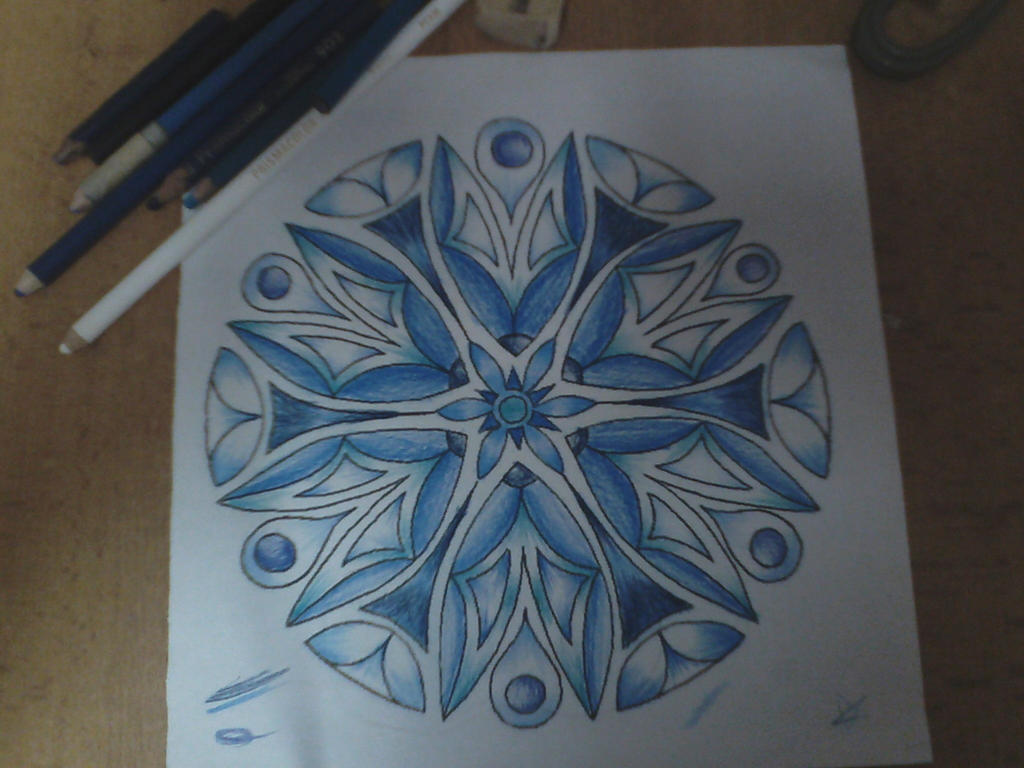 tributo a Elsa-frozen (mandala 2) by jonasrock711